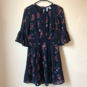 H&M fall floral dress